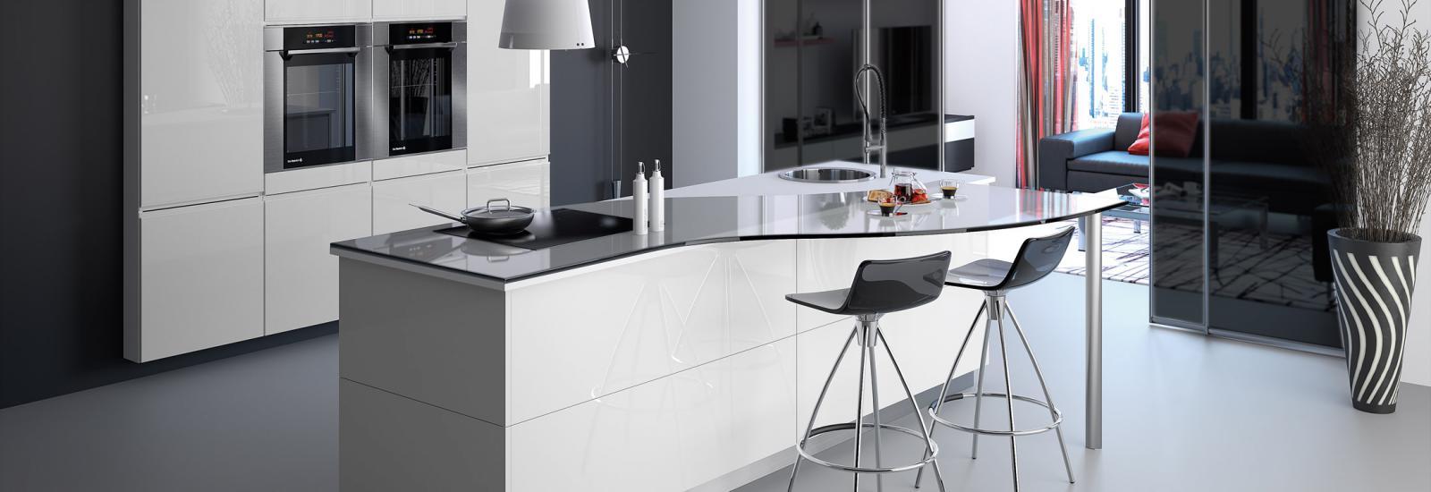 vente et installation de cuisines cuisine design contemporaine moderne clermont ferrand. Black Bedroom Furniture Sets. Home Design Ideas
